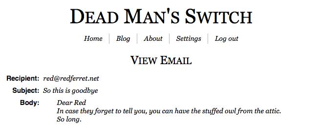 Dead Man's Switch, Menyiapkan Surat Wasiat Daring Untuk Orang Terkasih
