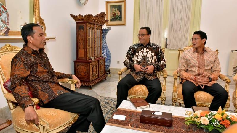 Anies-Sandi bertemu Presiden Jokowi