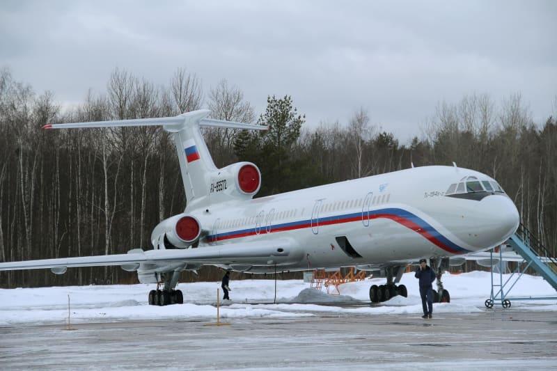 Tupolev Tu-154 di Bandara Militer Chkalovsky, Moskow