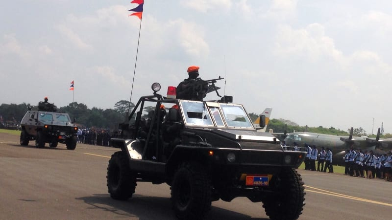Gladi bersih HUT TNI AU.