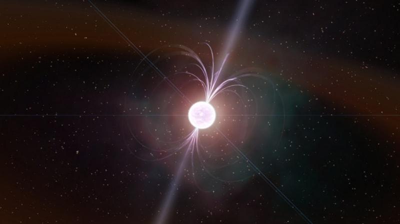 ilustrasi bintang neutron