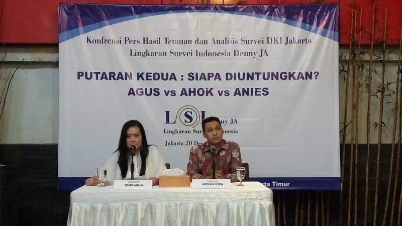 Cover: Konferensi Pers Surveri DKI Jakarta LSI Denny JA