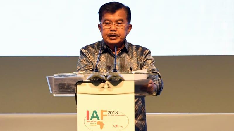 Jusuf Kalla di Indonesia Africa Forum 2018.