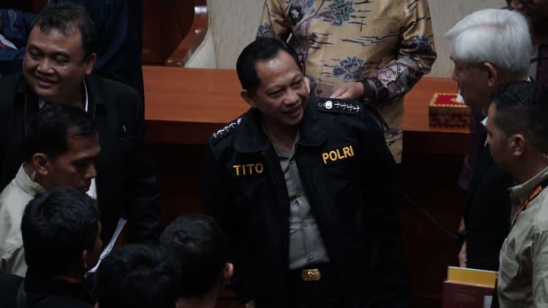 Tito Karnavian di DPR RI