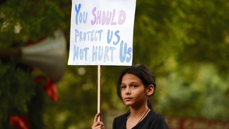 Protes perkosaan bocah di India