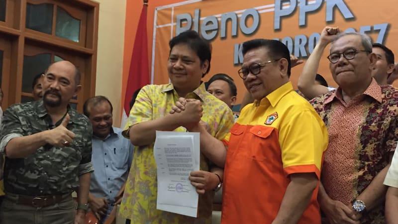Surat keputusan dukungan Airlangga Hartanto