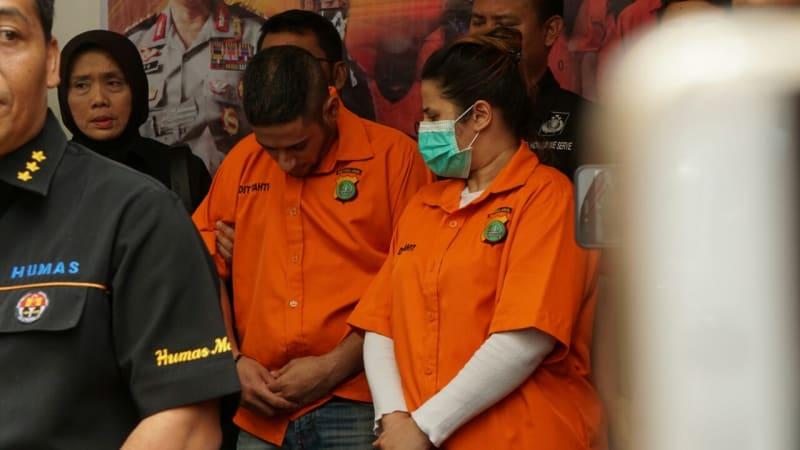 Konfrensi pers Dhawiya terkait narkoba