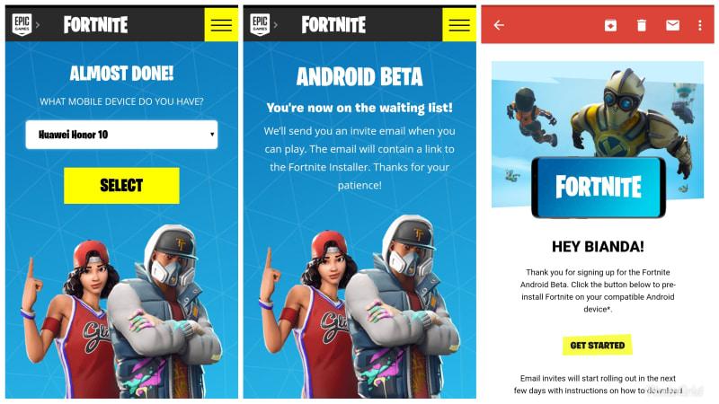 Fortnite versi Beta Android belum bisa dimainkan
