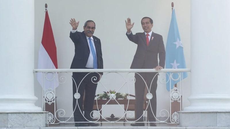 Jokowi Terima Presiden Federasi Mikronesia di Istana Bogor