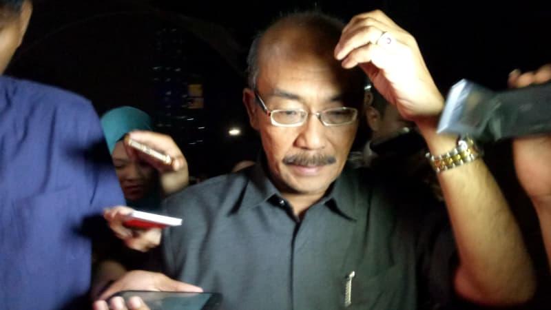 Wahyu Prasetyo Wibowo ,wakil ketua PN Medan usai diperiksa oleh penyidik KPK