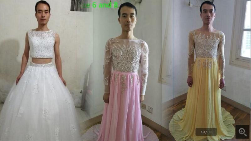 Pria di China jadi model jualannya sendiri
