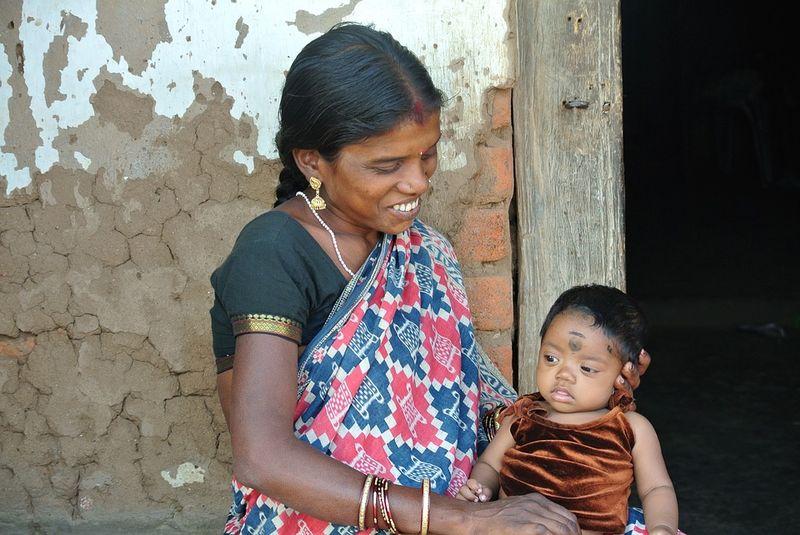 perempuan india dan anak