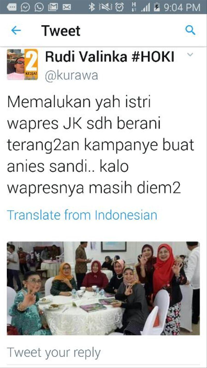 Hoax Dukungan Mufidah Kalla
