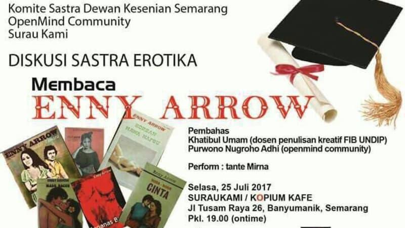 Poster Diskusi Sastra Erotika: Membaca Enny Arrow