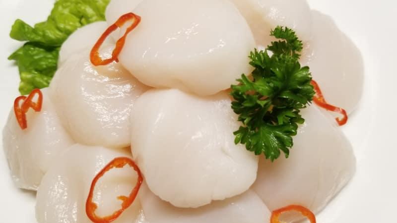 Ilustrasi makanan laut mentah