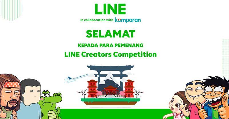 com-Poster Pengumuman LINE Creator Competition