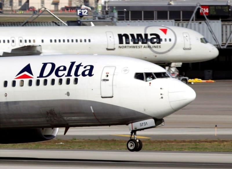 Pesawat maskapai Delta Airlines dari Amerika Serikat