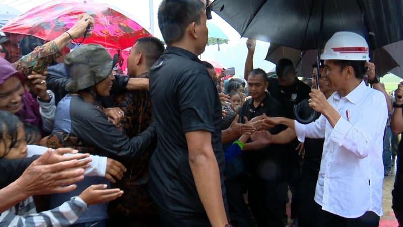 Jokowi tinjau pembangunan irigasi Sumatera Barat