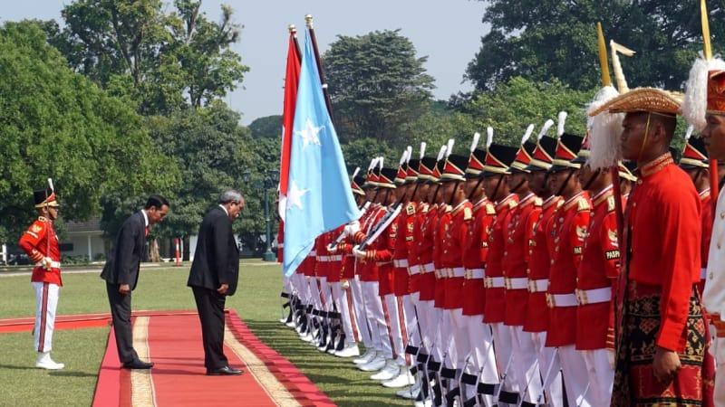 Jokowi Ter   ima Presiden Federasi Mikronesia di Istana Bogor