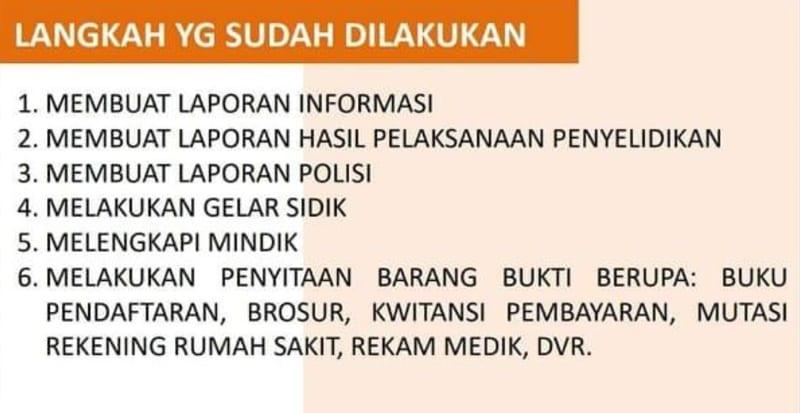 Hasil penyelidikan Polda Metro Jaya, <a href='http://medan.tribunnews.com/tag/ratna-sarumpaet' title='Ratna Sarumpaet'>Ratna Sarumpaet</a>