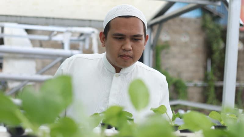 Ahmad Fadil, Santri Nurul Muhibbin, Adaro, Hidroponik