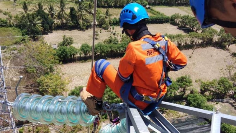 Petugas PT PLN, jaringan listrik, Palu, Donggala