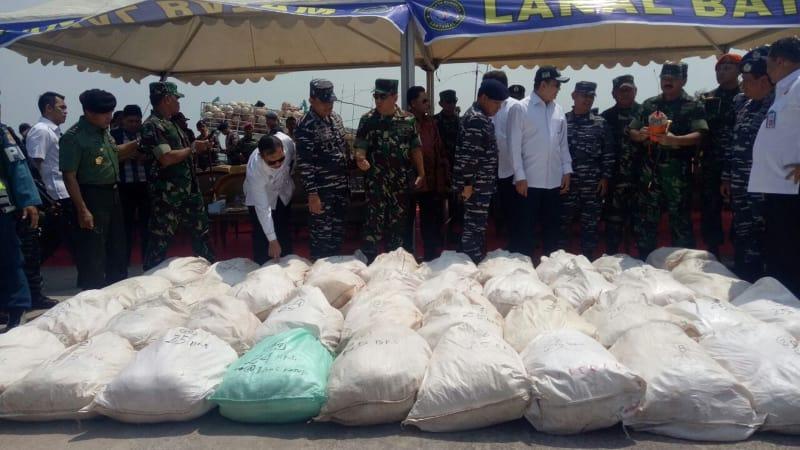 Kru Sigurot sita 1 ton sabu di Lanal Batam