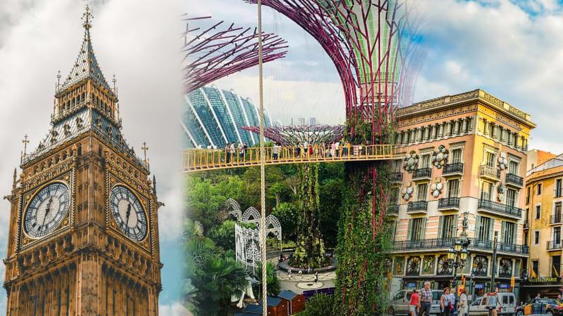 London, Singapura, dan Barcelona