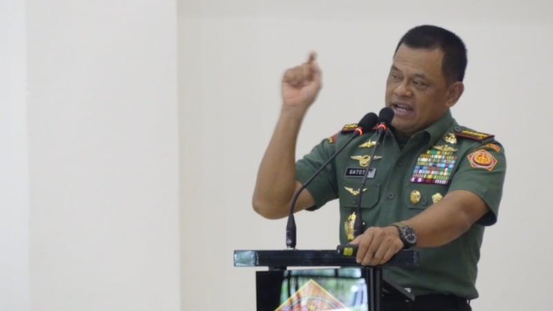Gatot Nurmantyo pengarahan ke TNI Polri di Lombok