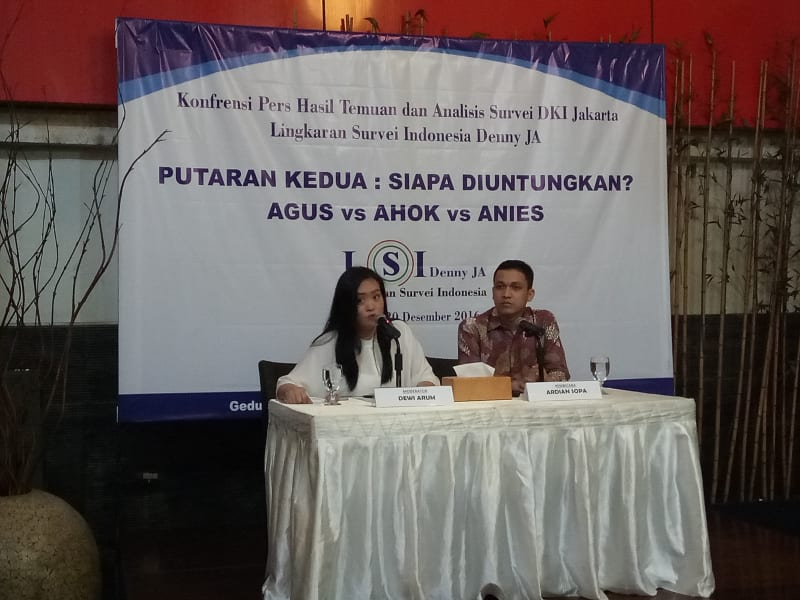 Konferensi Pers Surveri DKI Jakarta LSI Denny JA