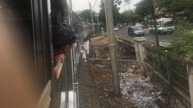 Kereta Anjlok di Palmerah menuju Kebayoran