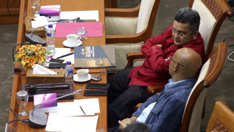 Pimpinan Komisi III DPR Trimedya dan Desmond