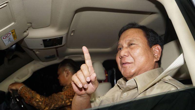 Prabowo tiba di kawasan Prapanca 6