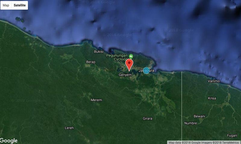 Pusat gempa 22 km dari Jayapura