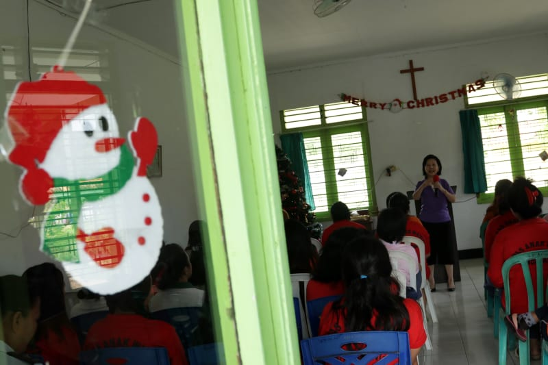 Kebaktian di Lapas Tangerang