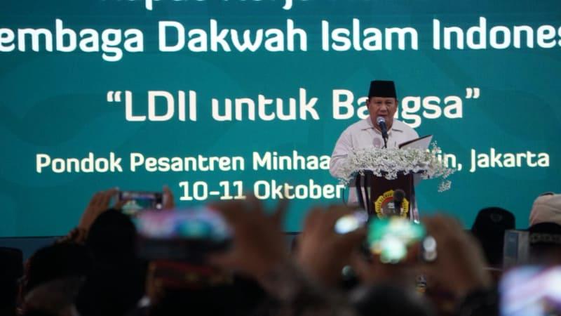 Rakernas LDII 2018, Prabowo Subianto