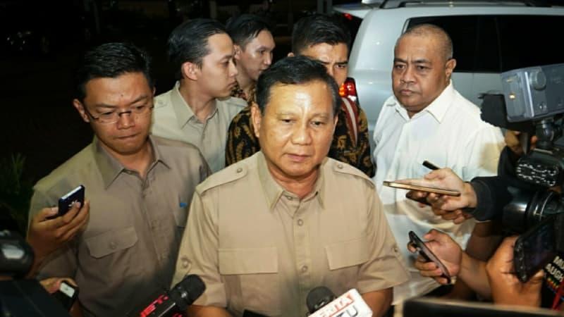 Prabowo Subianto di Kantor DPP PKS