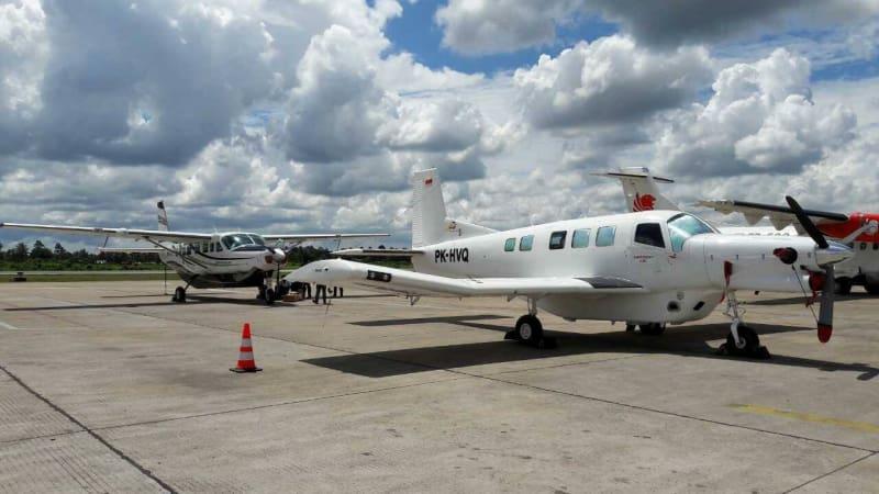Pesawat milik Dimonim Air.