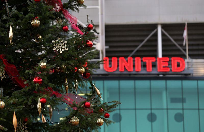 Manchester United dan pohon Natal.