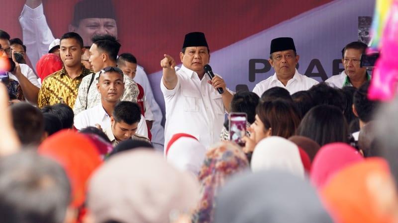 Prabowo saat berkampanye untuk Anies-Sandi.