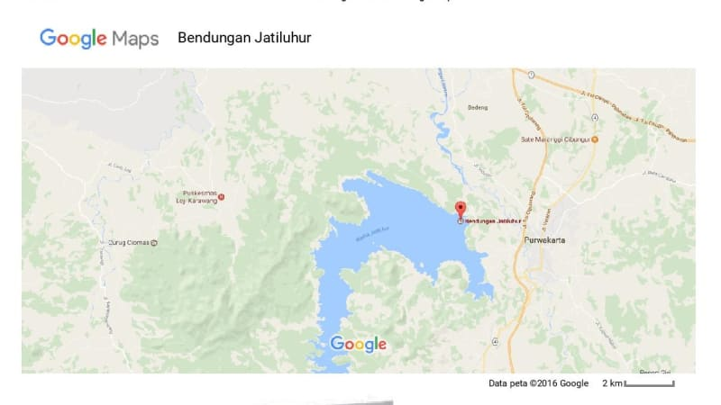 Lokasi Waduk Jatiluhur
