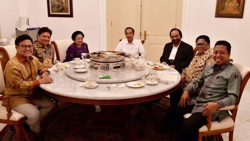 Pertemuan Presiden Jokowi dan koalisi di Istana Bogor