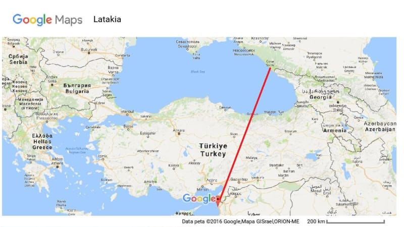 Sochi ke Latakia