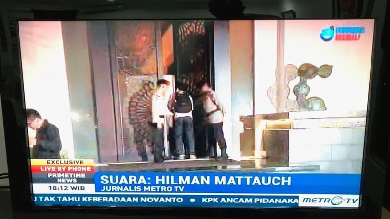 live wartawan Metrotv Hilman wancarai Setnov