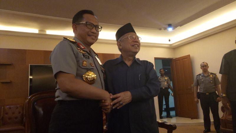 Kapolri Jenderal Tito Karnavian dan Maruf Amin