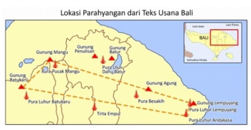 Lokasi Parahyangan dari Teks Usana Bali