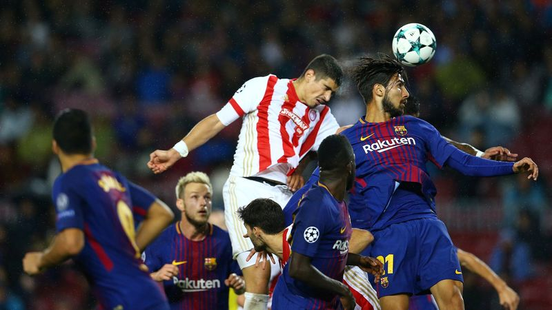Gol Dimitros Nikolaou  ke gawang Barcelona