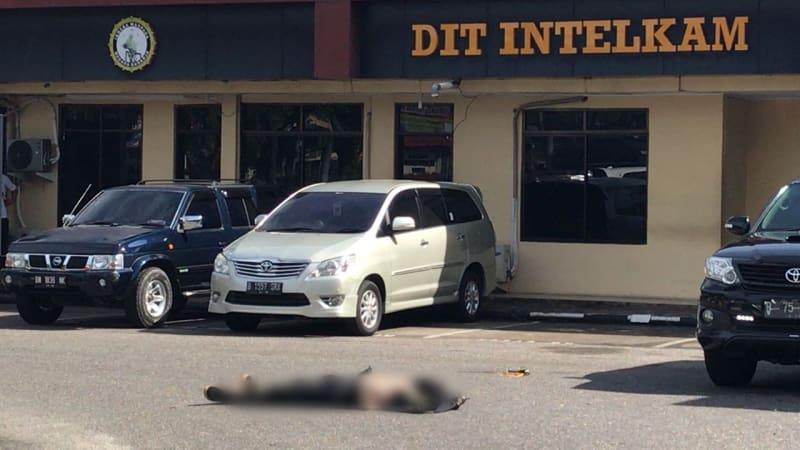 Jenazah terduga teroris di Mapolda Riau
