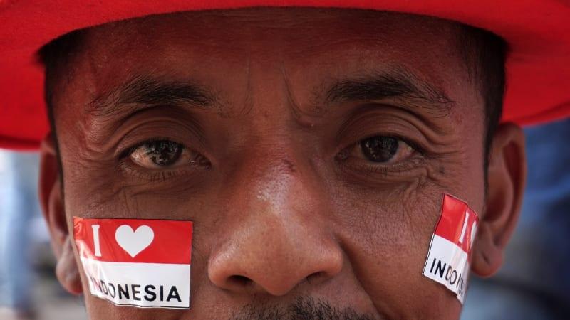 Suporter Indonesia di Stadion Patriot Candrabhaga