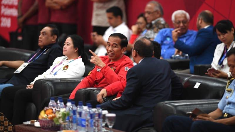 Jokowi, Pertandingan Angkat Besi Putra 62 kg